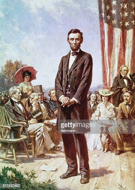 Abraham LIncoln at the Gettysburg Address Painting by JLG Ferris