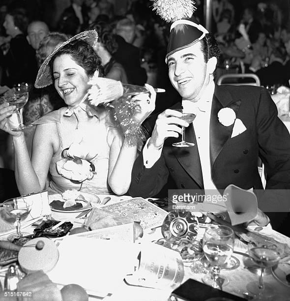New York, N- Senor Jaime Velez, the Columbian Consul General in New York City and Senora Graciela Medina , pictured in the Sert Room of the Waldorf...