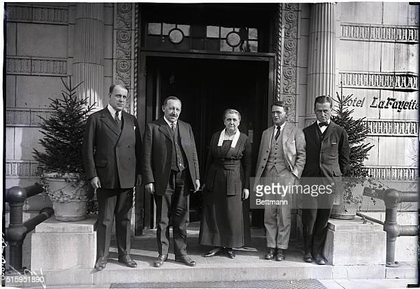 Washington DC American committee on Ireland hearing witnesses in Washington DC Sen David A Walsh of MA J F Maurer Miss Jane Addams of Chicago Dr...