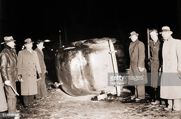 Flint, MI-While the Sheriff-owner of this car was attempting to evict sit-downers in the Fisher Auto Body Plant No. 2, other strikers overturned his...