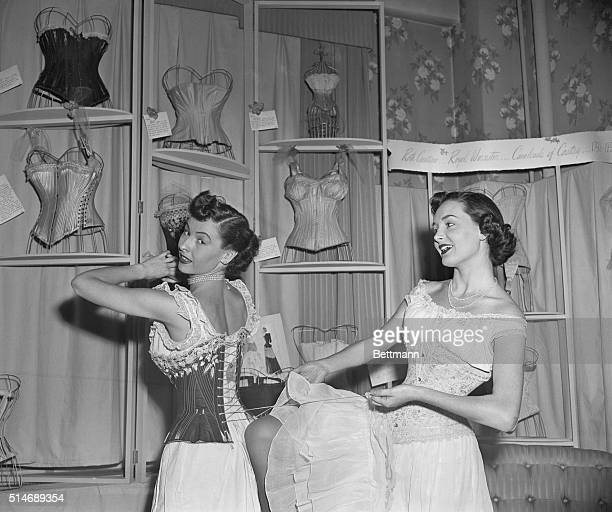 1/12/1950New York NY Dedication of the Roth Creations Royal Worchester Cavalcade of Corsetry Museum at 39 West 34th Street showroom Hazel Patterson...