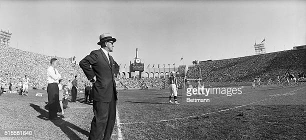 11/2/1958Los Angeles CA Chicago Bears coach George Halas whose habit of straying along the sidelines has caused a great deal of comment this seaason...