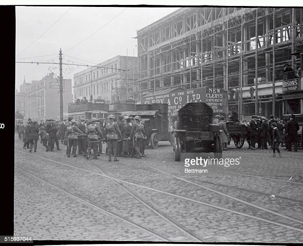 Irish uprising Armored cars in the streets of Dublin