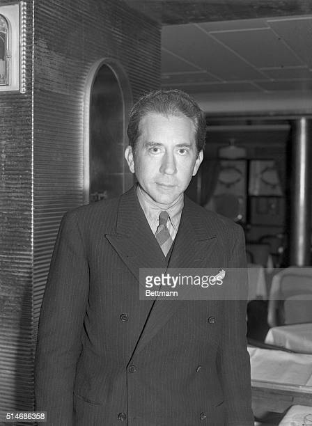 New York NY Jean Paul Getty oil operator of New York and Los Angeles upon his arrival in New York aboard the S S Conte Di Savoia 11/23 from Russia...