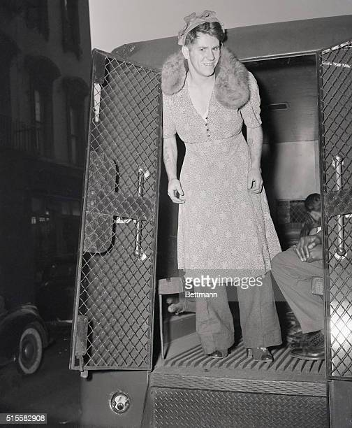 The plan of Thomas Gill of Brooklyn to stage a hold up while wearing women's clothing ends in a ride in the patrol wagon Inspired by the custom of...