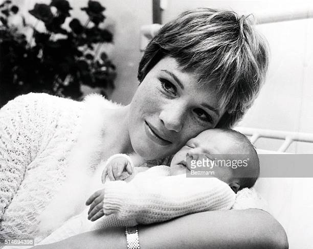 London England My Fair Lady star Julie Andrews proudly presents her Fair Lady her onedayold baby at the London Clinic November 27th The baby weighed...