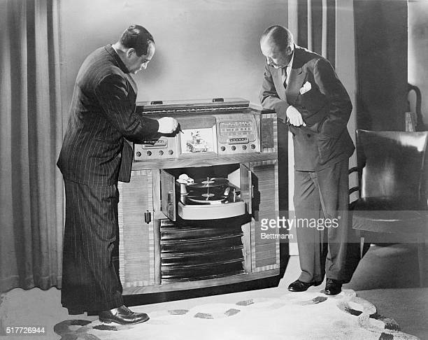 Kennith Turner dirctor of engineering and Richard A Grover of Admiral Company take a close look at the post war model...