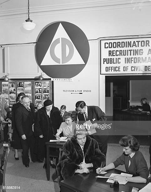 1/13/1951New York NY Volunteers for the jobs of interviewing applicants in the New York City Office of Civil Defense campaign to enroll one million...