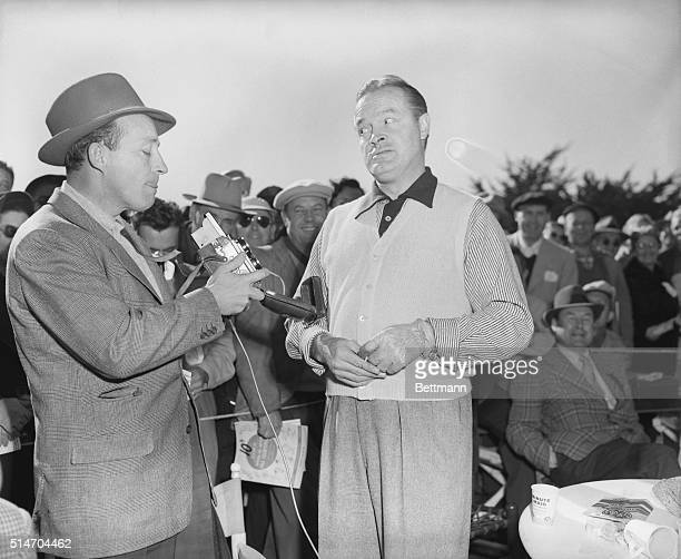 1/13/1951Pebble Beach CA Bing Crosby takes Bob Hope's picture at the 1st green before Bob took time to tee off in the $10000 National proamateur...