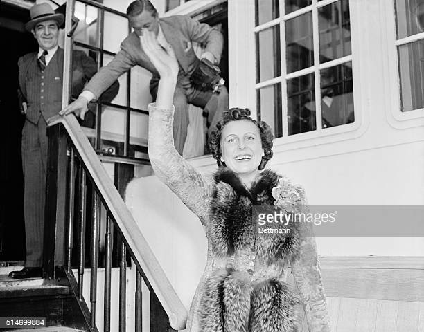 11/4/1938New York NY Fraulein Leni Riefenstahl former Motion Picture actress who is a close friend of Reichsfuehrer Adolf Hitler of Germany is shown...