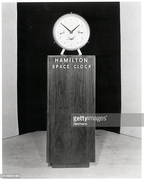 1/14/1954Created to demonstrate the interplanetary time differentials a future space explorer must considerthe Hamilton Space Clock simultaneously...