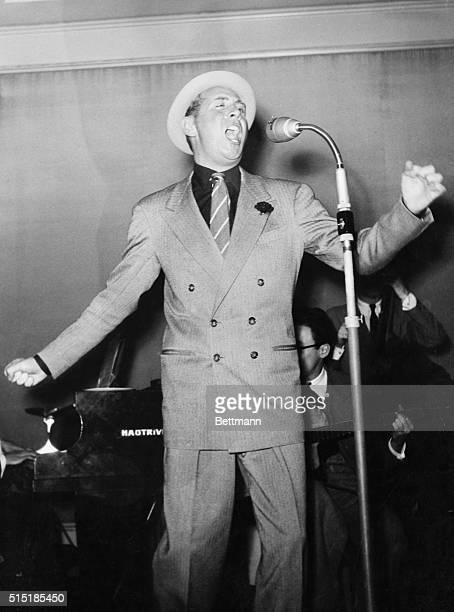 1/14/54France Charles Trenet singing at mike in France