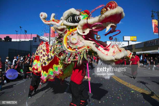 115th Golden Dragon Parade, Chinese New Year, 2014, Year of the Horse, Los Angeles, California, USA,