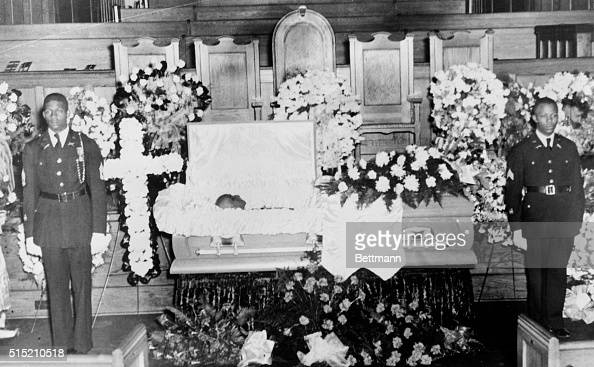 Open Casket Surrounded By Flowers Pictures Getty Images