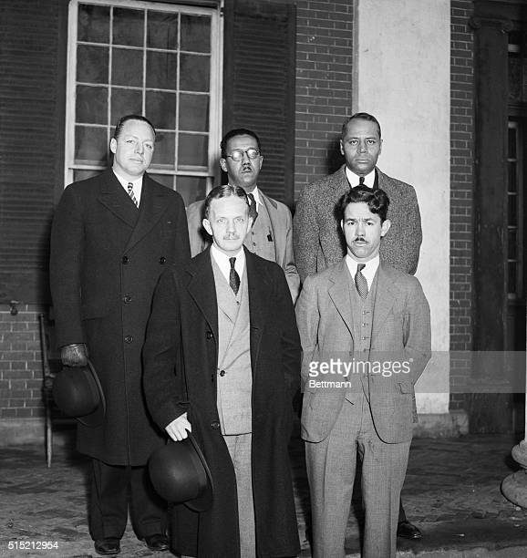 A glittering array of legal talent gathered at Leesburg Va as George Crawford Negro suspect in the sensational murder of Mrs Agnes Ilsley and her...