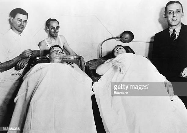 1/16/35Oklawaha Florida Ma Barker and her son gangster Fred Barker in morgue of Iklawaha Florida after they were shot Photograph