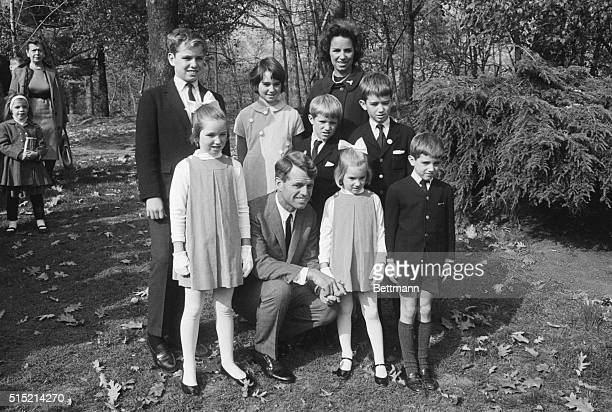 11/6/64Bronx New York New York's US Senatorelect Robert F Kennedy shows he's quite a family man as he poses with his wife and children during an...