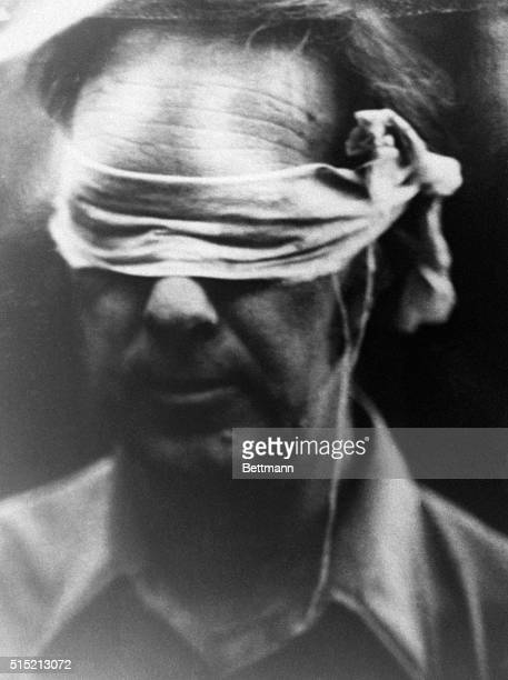 11/7/1979Tehran Iran Closeup of a blindfolded hostage who was paraded before Iranian photographers and TV cameras Photo issued by militant Moslem...