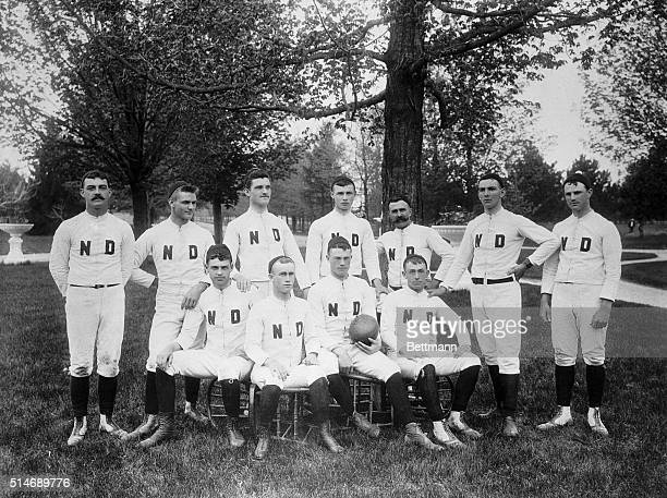 11/7/26Los Angeles California This photo from the private collection of Dr JP Naughton of Los Angeles shows the Notre Dame team In 1888 first team of...