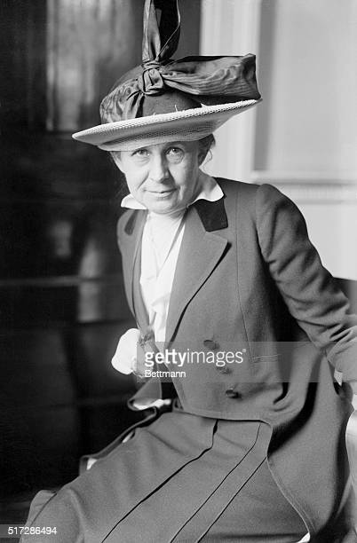 1/19/1915New York NY Ida Tarbell is shown on the stand at the Federal Industrial Relations Committee in session at the City Hall in New York