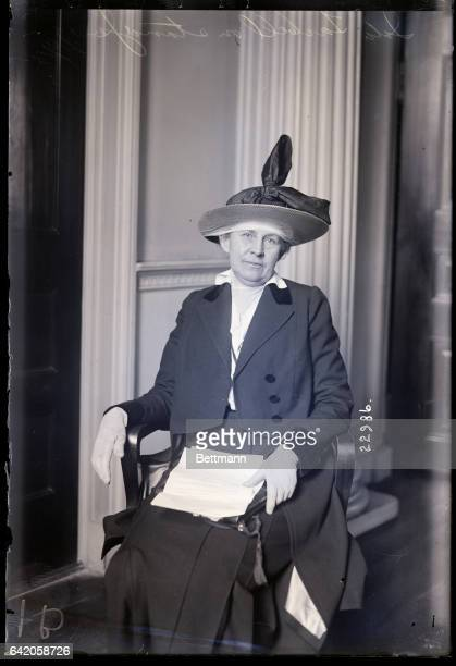 1/19/1915New York NY Ida Tarbell is shown seated on the stand testifying at the Federal Indsutrial Relations Committee at the City Hall in New York