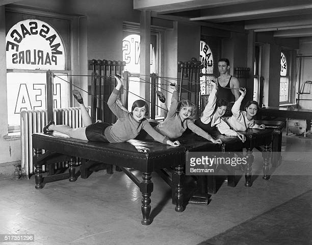 1/19/1928New York NY Chorus girls of the Lady Be Good show have invaded the many gymnasiums of this city and are exercising religiously in order to...