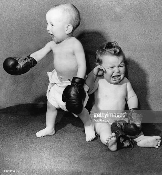 11monthold Stephen Williams left defeats Martin Langshaw to become the new 'paperweight' champion of Panton Road Liverpool