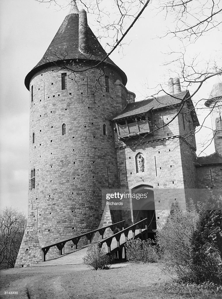 The draw bridge at Castell Coch, Tongwynlais, near Cardiff, which recently collapsed injuring twenty people.
