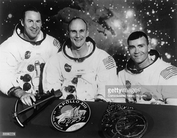 The original proposed crew of Apollo XIII Navy Captain James A Lovell Jnr the Apollo 13 Commander Thomas Ken Mattingly the Command Module Pilot who...