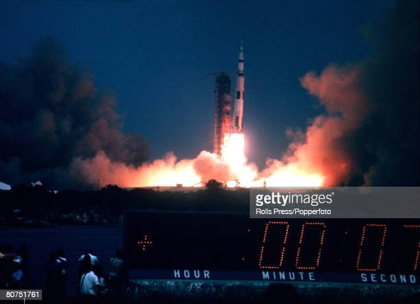 11th April 1970 USA A picture of the lauch of the Apollo 13 space rocket