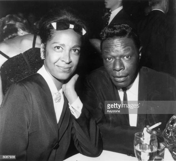 American singer Nat King Cole and his wife Maria at the opening ceremony of the Cocoanut Grove in Hollywood