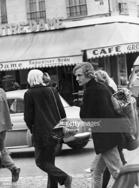 Group of beatniks in Paris.