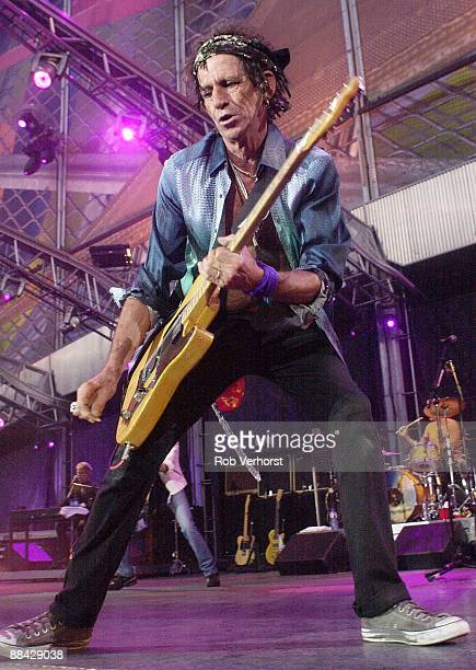 11th AUGUST: Keith Richards from The Rolling Stones performs live on stage during the Licks tour at Feijenoord Stadion, Rotterdam, Netherlands on...