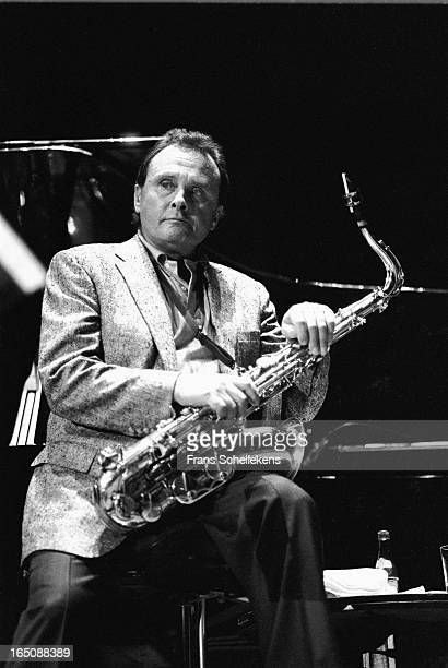 11th FEBRUARY: American sax player Stan Getz performs at the Concertgebouw in Amsterdam, Netherlands on 11th February 1988.
