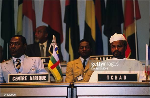 11th Franco -African Summit in Bujumbura, Burundi on December 10, 1984 - Hissein Habre.