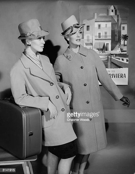 Two smart ladies dressed for a trip to the south of France