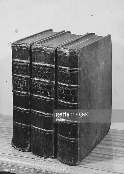 The first edition of the Encyclopedia Britannica in three volumes