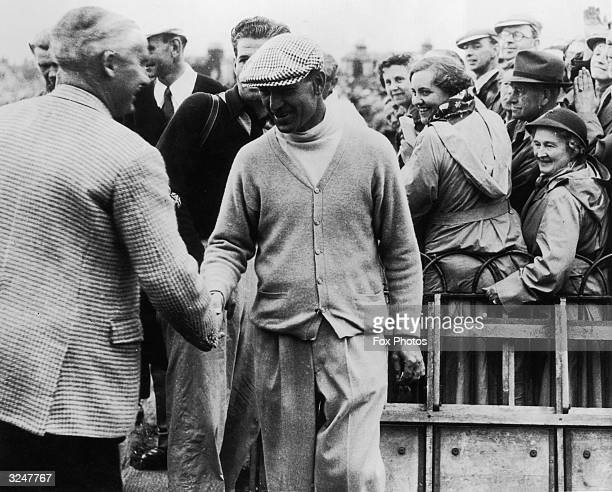 American golfer Ben Hogan wins the British Open Golf Championship at Carnoustie