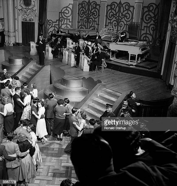 Crowds dancing in the Tower Ballroom at Blackpool Tower. Original Publication: Picture Post - 9218 - The Story Of Blackpool Tower - pub. 1953