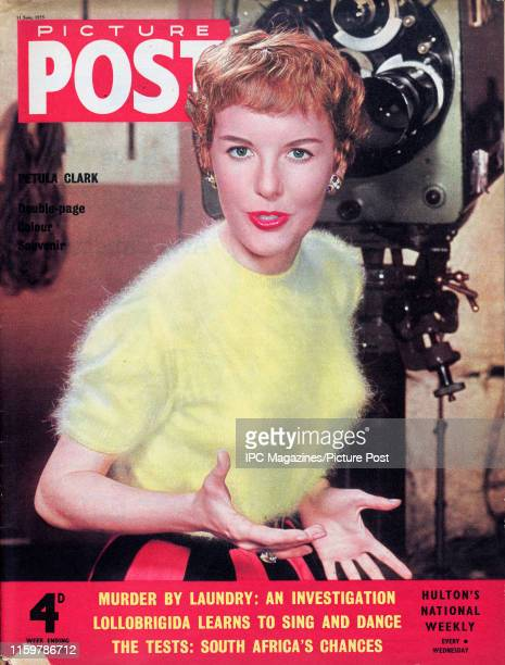 British singer Petula Clarkis featured for the cover of Picture Post magazine. Original Publication: Picture Post Cover - Vol 67 No 11 - pub. 1955.