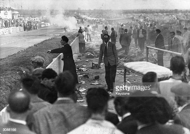 Eighty people were killed and over a 100 injured during the Le Mans 24 hours race when Pierre Levegh's Mercedes crashed into the crowd