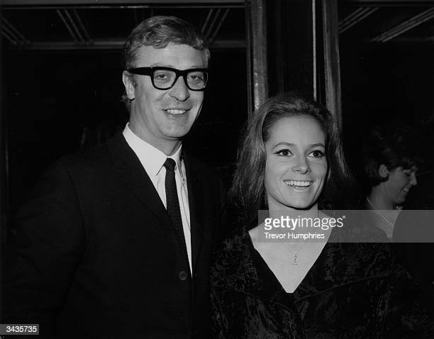 English actor Michael Caine and Italian actress Luciana Paluzzi at the world premiere of the Roman Polanski film 'Repulsion'