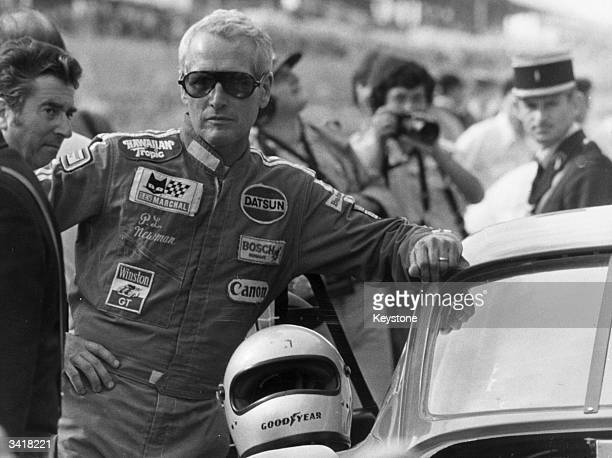 American actor Paul Newman before the start of the Le Mans 24-hour race. He and his two co-drivers finished second in their Turbo Porsche.