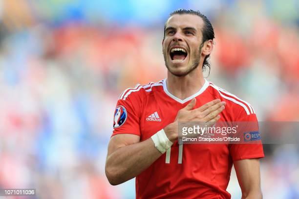 11th June 2016 - UEFA EURO 2016 - Group B - Wales v Slovakia - Gareth Bale of Wales celebrates victory - .