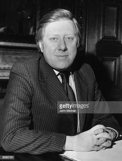 Labour MP Roy Hattersley Minister of State for Foreign and Commonwealth Affairs in pin stripe suit