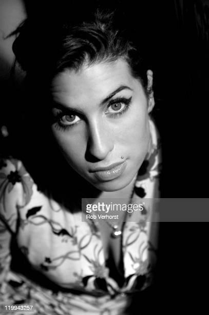 English singer Amy Winehouse posed at Tejater Popular in Rotterdam Netherlands on 11th March 2004