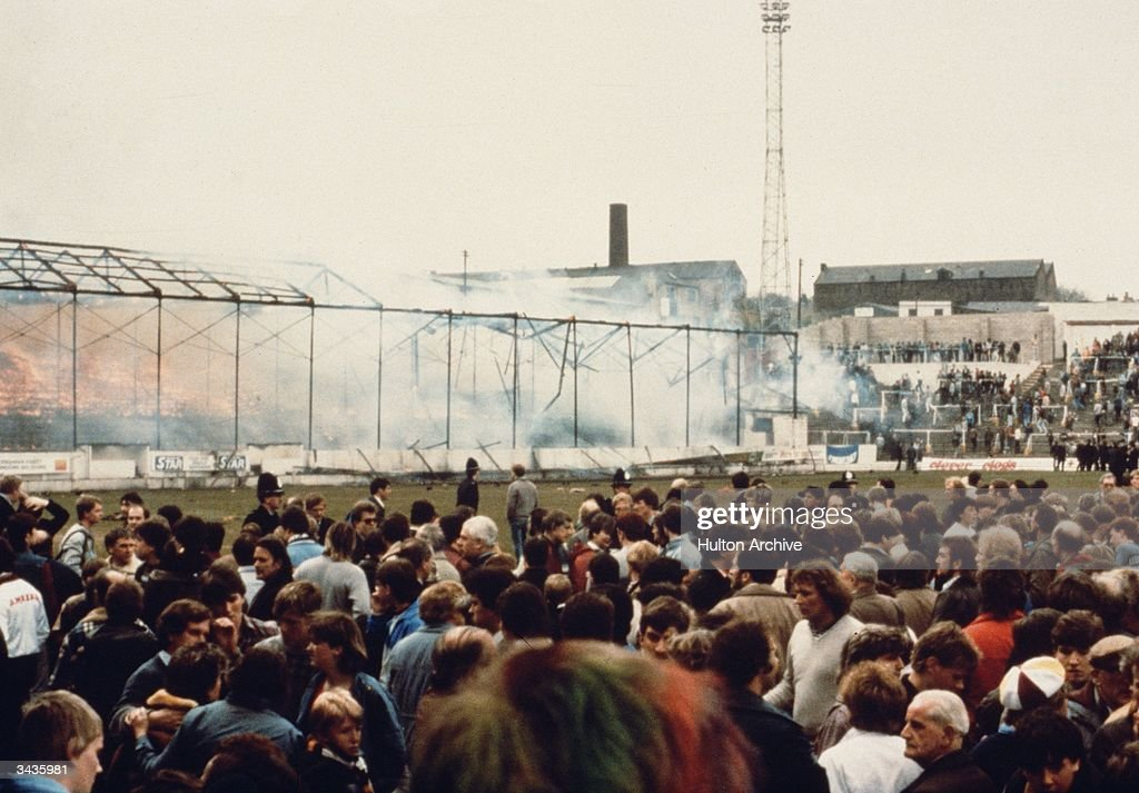 The fire at Valley Parade, the football ground in Bradford where 56 people died.