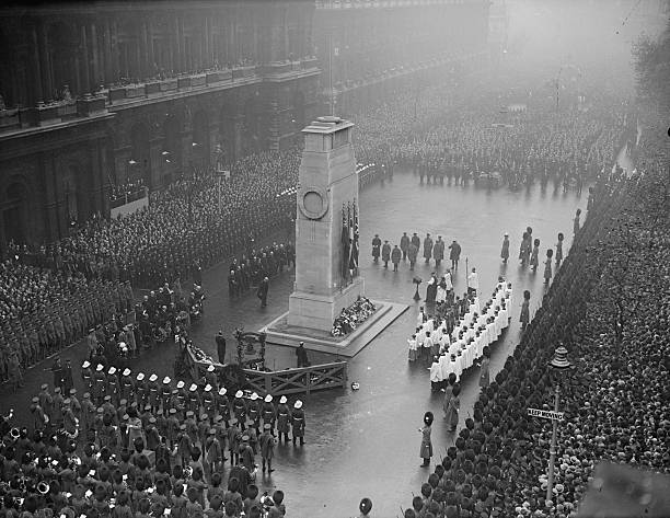 The anniversary of the day that fighting ended in World War I at the Cenotaph Whitehall