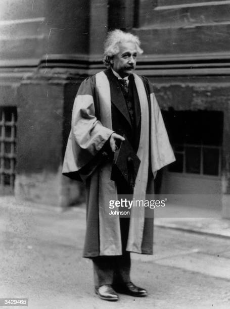Mathematical physicist Dr Albert Einstein winner of the 1921 Nobel prize for physics at Oxford University