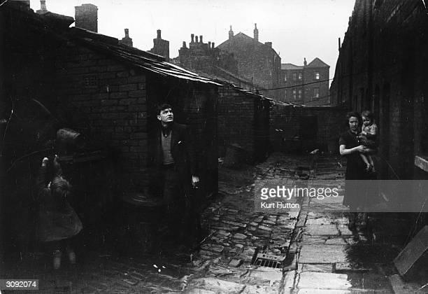 Terraced housing in Wigan Lancashire Original Publication Picture Post 228 Wigan pub 1939